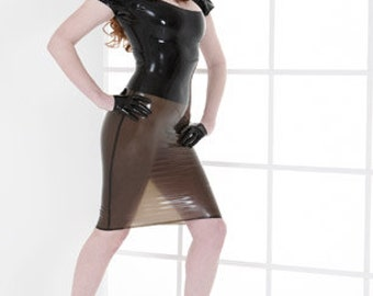 Lady Lucie Latex pencil skirt (various colours available)