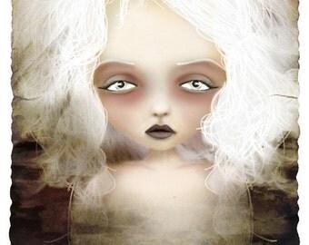Mania Lesser Known Goddess Medium Sized Giclee Fine Art Print - 8x10 or 8.5x11 - Dark Gothic Lowbrow Artwork - solocosmo - Jessica von Braun