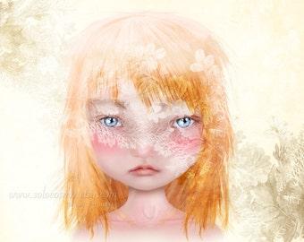 Danielle Medium A4 Sized 8.5x11 OR 8x10 Premium Giclee  Fine Art Print