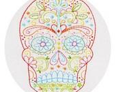 Calavera Sugar Skull Embroidery Pattern PDF