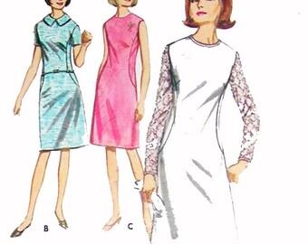 Misses A-line dress pattern, UNCUT, factory fold, vintage, Butterrick 3925, Size 18, Bust 38. large dress