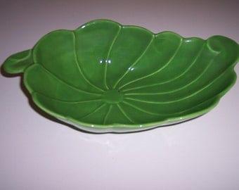 California pottery vintage leaf dish