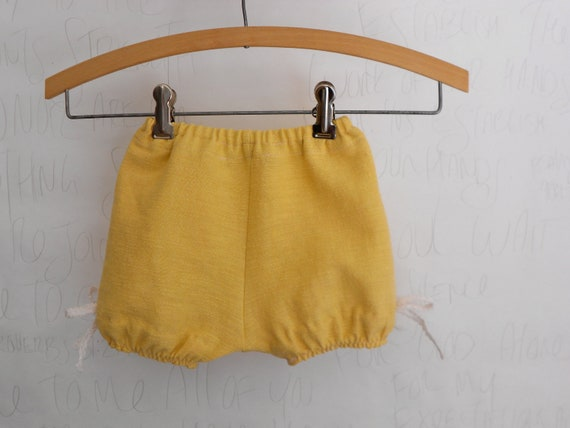 Baby Girls clothes fall Bloomer shorts Mustard - 24m -2T