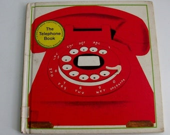 1968 The Telephone Book Golden Book for Early Childhood Children's Book (Code b)