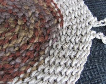 Organic Hemp and Organic Cotton Round Washcloth