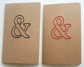 stitched ampersand moleskine notebook, choice of color and paper