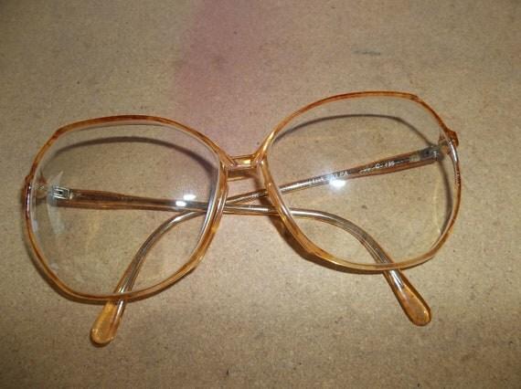 SALE Vintage Womens Rodenstock Eyeglasses Glasses FRames / Retro Eyewear with Big Lens