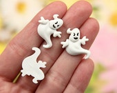 20mm Cute Halloween Ghost Resin or Acrylic Cabochons - 8 pc set