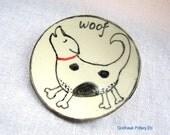 Barking Dog Plate for Table Serving or Jewelry Holder Spoon Rest