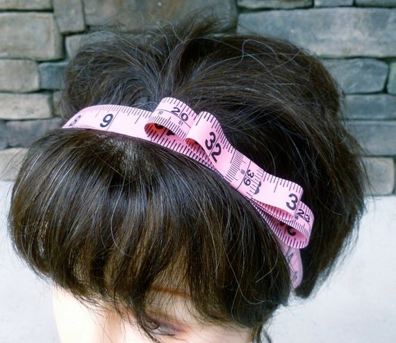 Tape Measure Headband - Measured in Pinkness