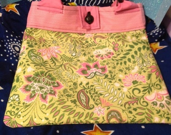 Pink and Green Tote Purse