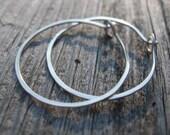 silver earrings. modern earrings. hoop earrings. eco friendly jewelry. sterling silver earrings.