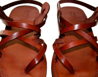 Brown Triple Leather Sandals for Men & Women