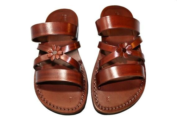 Brown Bio-Pop Leather Sandals for Men & Women