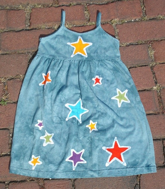 Ready To Ship Little Princess Batik Star Dress Fair Trade
