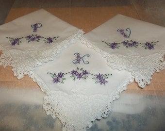 wedding handkerchief, bridesmaid, bride hanky, bouquet wrap, hand embroidered, wedding colors welcome