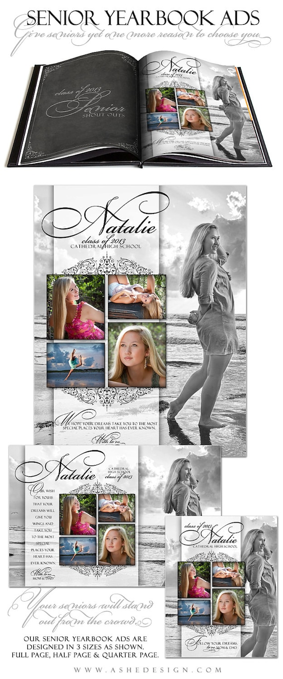 senior yearbook ads photoshop templates simply by ashedesign. Black Bedroom Furniture Sets. Home Design Ideas