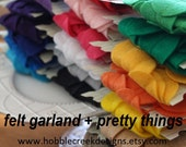 5 felt garland banners (you choose the colors)