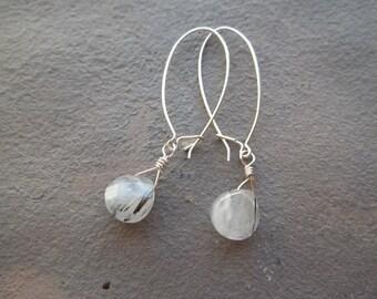 Tourmalinated Quartz Earrings
