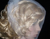 Ivory or white Birdcage blusher Birdcage veil . Full veil made ivory tulle. With comb ready to wear.