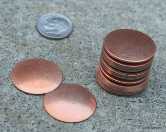 """COPPER plated round disks 7/8"""""""