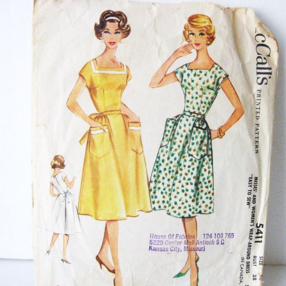 50s 60s Wrap Dress Pattern