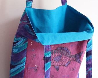 Custom T Shirt Tote - Custom Made with YOUR T Shirt or Sweatshirt - Tote Bag