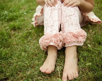 Little lace  baby leggings