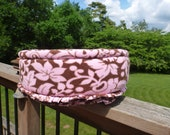 Pink Floral Print Cat or Small Dog Bed
