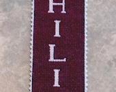 Personalized Cross-stitch Bookmark