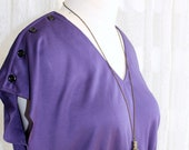 Vintage Royal Purple V-Neck Dress