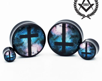 "Cross in Space BMA Plugs 11/16"" inch 18mm"