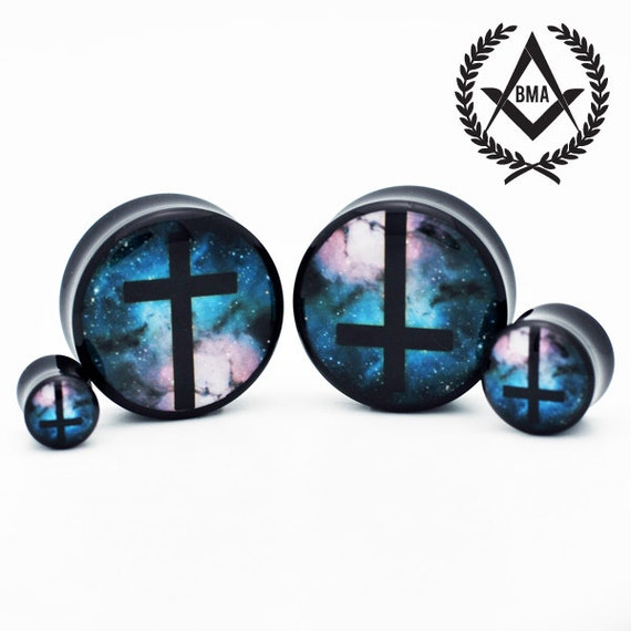 "Cross in Space BMA Plugs 3/4"" inch 19mm"