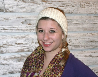 CROCHET PATTERN - The Ribbed Ear Warmer Headband  (matches The Ribbed Boot Cuffs) This One Looks Great on Guys  As Well