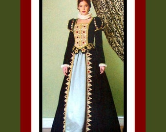 Long Live The Queen -Exquisite Renaissance Queen Court Gown -Costume Sewing Pattern- Size 14-20 -Uncut-OOP