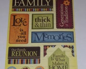 The Paper Studio / Cardstock Stickers / FAMILY