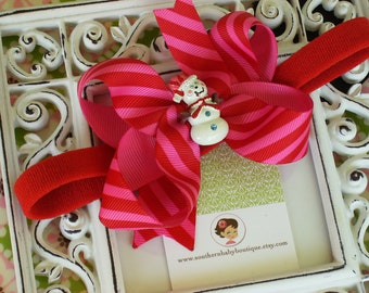 NEW ITEM----Boutique Baby Girl Toddler Hair bow Dainty Headband-----MISS Snowman----
