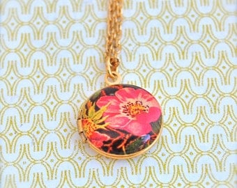 The Tiniest Retro Floral Locket