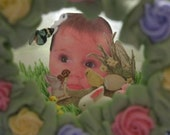 Baby's First Easter Panoramic Sugar egg Lattice Embossed