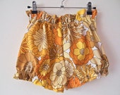 The Amelia - Bloomers in Yellow and Orange Floral Print (Made To Order) - Reserved for Estuary Palomino