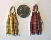 Pair of Miniature Kitchen Aprons (half inch dollhouse scale)