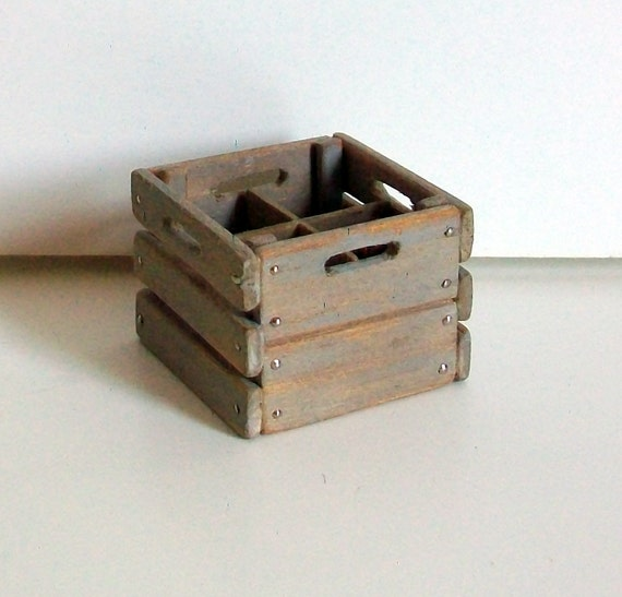 Miniature Milk Crate (1 inch dollhouse scale)