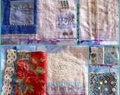Handmade Fabric Journal, Vintage and Antique Fabrics and Embellishments