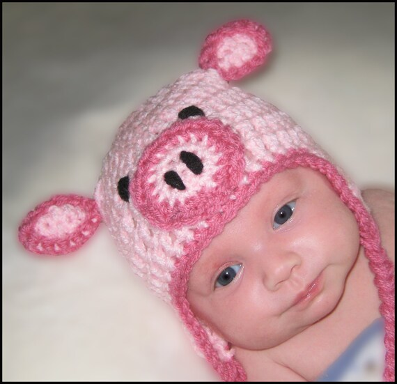 Crochet Pattern for Resale - Little Piglet Hat