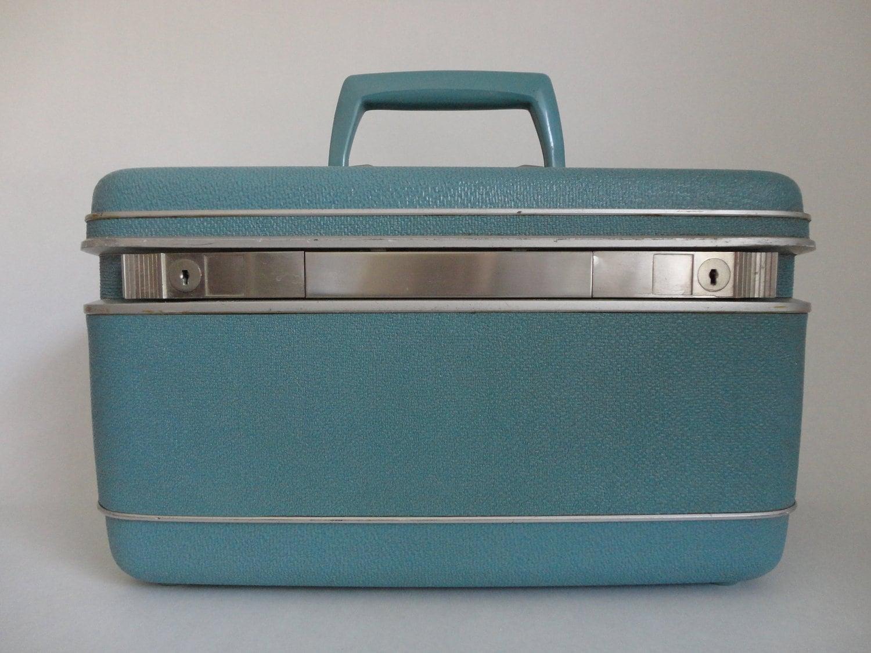 Vintage Aqua Samsonite Silhouette Luggage Case