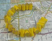 Colored Pencil,  Beaded Bracelet, Jewelry, Charm Bracelet, Teacher Artist Creative Gift, Adjustable, Toggle, Yellow, Lemon