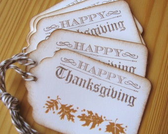 Thanksgiving Gift Tags, Fall Leaves Gift Tags