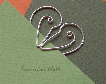 Stork love - wire bookmark