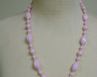 Vintage Pink Necklace