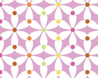 Summersault Pinwheels in Blush by Erin McMorris for Free Spirit - 1 Yard